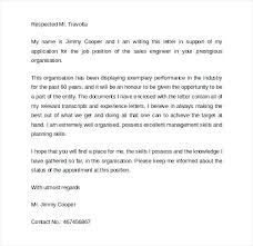 Process Engineer Cover Letter Sales Cover Letter 9 Free Samples ...