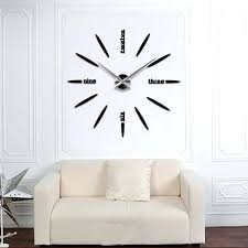 quartz modern clocks needle acrylic watches big wall clock mirror sticker living room decor in wall
