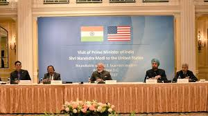 prime minister narendra modi who is on a three day tour to the us is holding a round table with about 20 executives from companies based in the united