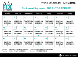 21 Day Fix Extreme Tips For Success Workout Calendar