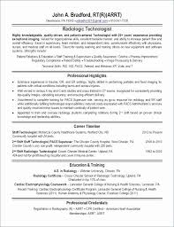 Resume For Radiologic Technologist New X Ray Tech Resume Lovely Radiologic Technologist Resume New