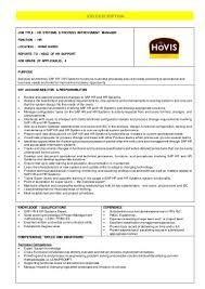 hr systems process improvement manager job description hovis