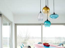 dining room light fixture blown glass