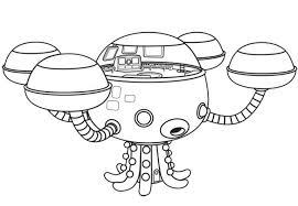 Small Picture Coloring Pages The Octonauts Drawing