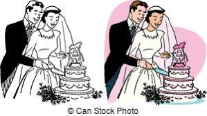 cutting the wedding cake clipart. Interesting Clipart A Newly Married Couple Cuts A Slice From Their Wedding Cake For Cutting The Wedding Cake Clipart
