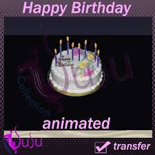 happy birthday images animated second life marketplace happy birthday cake with animated candles