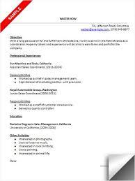 Sales Coordinator Resume Sample Resume Examples Sample Resume