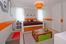 Kids Bedroom Paint Ideas For Boy Or Girl Bedrooms » White Orange Stripe Paint  Ideas For Kid Bedroom