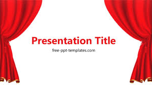 Red Curtain Ppt Template