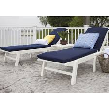 regardless if you live near the coast polywood s nautical chaise lounge will bring ocean side
