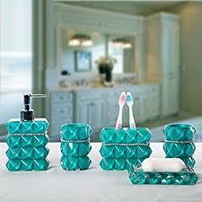 Aqua Colored Bathroom Accessories  JaiaincusAqua Colored Bathroom Accessories