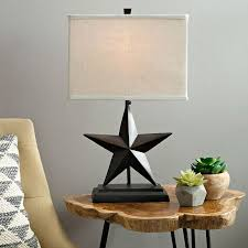 star table lamp bronze rustic farmhouse country cottage light