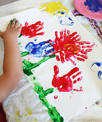 flower finger painting idea on girllovesglam com