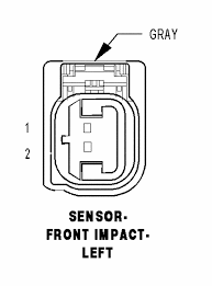 air bag wiring diagram for sensors chrysler 300c forum 300c remember to disconnect battery and allow 2 minutes for system capacitors to discharge before attempting any repair to airbag system