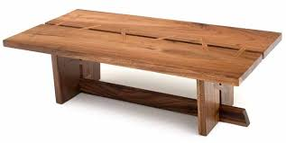 Contemporary Wood Coffee Table Solid Wood Modern Decor