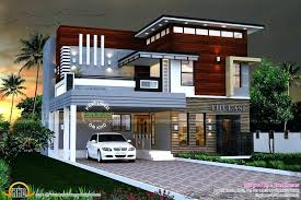 contemporary house plans of elevations sq ft modern kerala style small with photos