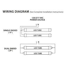 satco led t8 tube wiring diagram electrical work wiring diagram \u2022 Fluorescent Light Wiring Diagram neptun light led 88040 unv t8 8ft 96 40 watt 40w linear tube rh shineretrofits com wiring diagram dual led t8 led fluorescent replacement wiring diagram