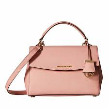 tas michael kors ava small saffiano leather satchel bag original pink