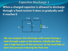 when a charged capacitor is allowed to discharge through a fixed resistor it does so gradually