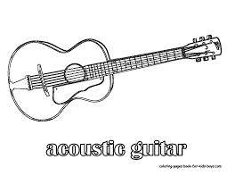 Small Picture Bass Guitar Coloring Pages