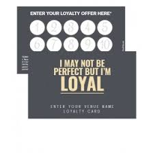 loyalty card template loyalty cards promote your pub