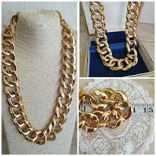 gold tone lge links chain statement