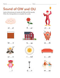 12 word searches from the phonics wordsearches section that reinforce the book, cow, row, ou, aw, and ew patterns. Sound Of Ow And Ou Worksheet Education Com