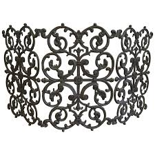 viyet designer furniture accessories traditional cast iron scroll fireplace screen