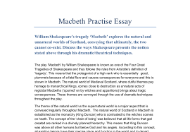 opinion on macbeth essay opinion of macbeth essay example for study moose