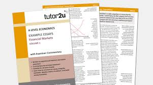 financial markets example essays volume for a tutoru economics printed edition