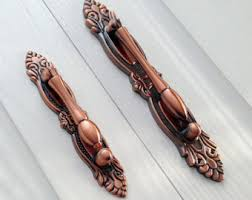 copper cabinet pulls. copper handles bail dresser drawer pulls / antique drop kitchen cabinet pull handle knobs