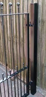 wrought iron gate posts latch posts