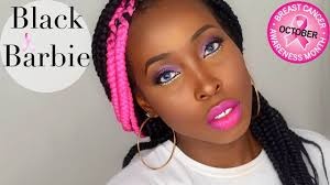 black barbie 2016 2016 makeup tutorial t cancer awareness tutorial 2016 you