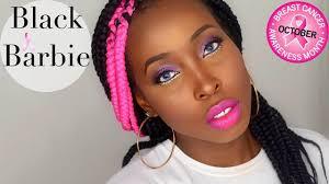 black barbie 2016 2016 halloween makeup tutorial t cancer awareness tutorial 2016 you