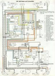 wiring diagram in color 1964 vw bug, beetle, convertible the samba Volkswagen Type 1 vw beetle wiring digram