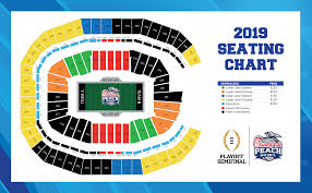 Lsu Seating Chart With Rows Seating Chart Chick Fil A Peach Bowl
