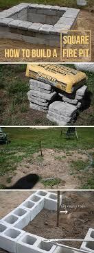 stone fire pit ideas. Square Concrete And Stone Firepit Fire Pit Ideas