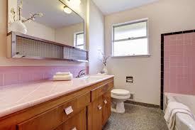 paint to tone down pink tiles