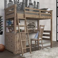 Cheap bunk beds with desks Ideas Bryon Industrial Loft Twin Bed With Drawer Chest Wayfair Bunk Beds With Desk Under Wayfair