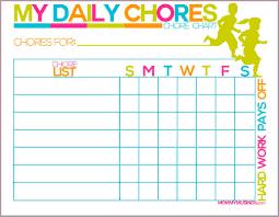 Sample Chore List Kids Chore Listdaily Chore Chart Copy 24×24jpg Sample Bios 10