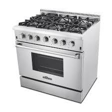Gas Kitchen Ranges Thor Kitchen Hrg3618u 36 In Professional Stainless Steel 6 Burner