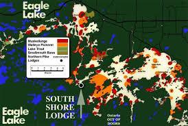 Eagle Lake Fishing Map South Shore Lodge