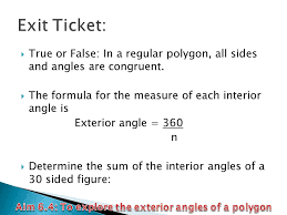 exterior angle formula for polygons. aim 6.4: to explore the exterior angles of a polygon angle formula for polygons