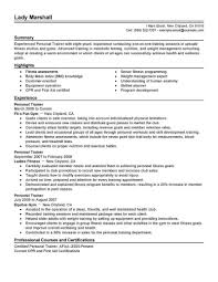 Fitness Instructor Resume Inspirational Personal Trainer Resume