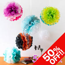Paper Flower Mobiles Paper Pom Pom 30 Cm Paper Pompon Mix Color Christmas Paper Mobiles Decogoods Childrens Room Ceiling Decoration Welcome And Farewell Flower