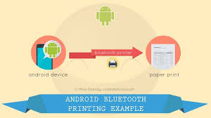 printing text android bluetooth printing example code with actual printer device