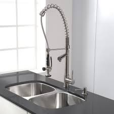 Installing Industrial Kitchen Faucet Sprayer — Railing Stairs and