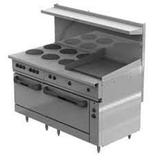 vulcan commercial stove. Perfect Commercial Vulcan EV60SS6FP24G208 Electric Restaurant Range 60 6 Face Plates 24  Griddle And Commercial Stove V