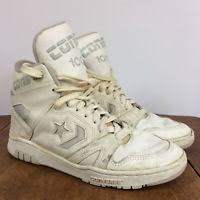converse erx. vintage 80s 90s high top converse cons weapon basketball shoes white gray size 9 erx n