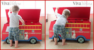 teamson fire truck toy chest review